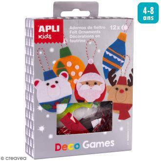 Kit Deco Games Suspensions de Noël - Formes en feutrine - 12 formes à personnaliser