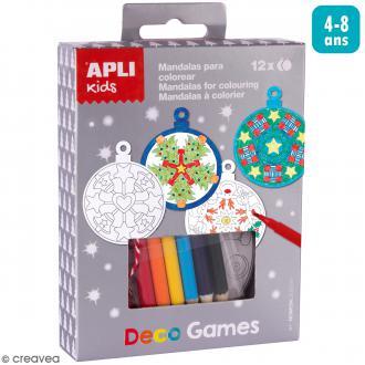 Kit Deco Games Suspensions de Noël - Boules Mandalas - 12 formes à personnaliser