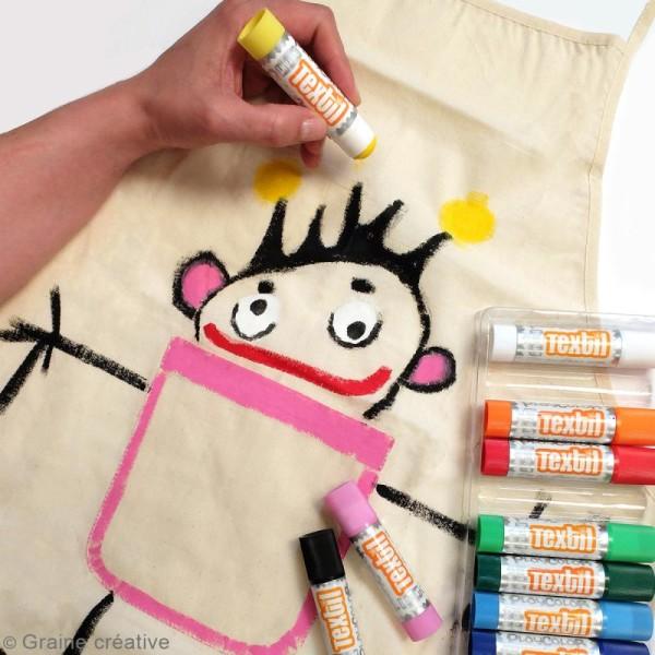 Gouache solide Playcolor en stick - Assortiment Textil - 6 tubes - Photo n°2