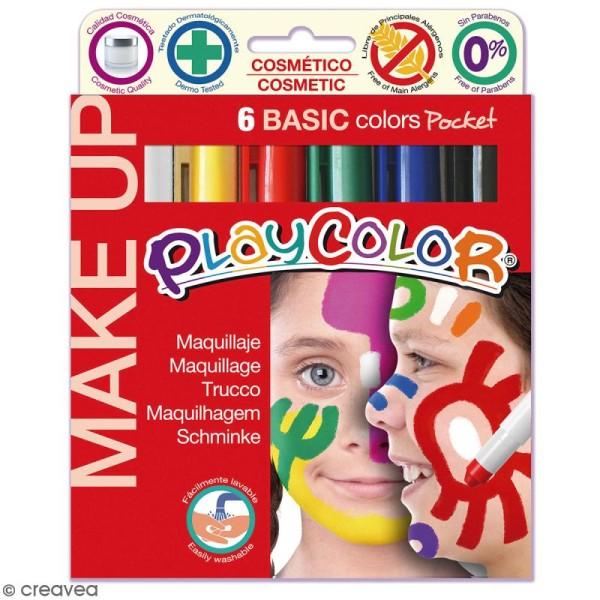 Sticks de maquillage PlayColor - Assortiment Couleurs basiques - 6 pcs - Photo n°1