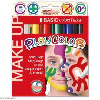 Sticks de maquillage PlayColor - Assortiment Couleurs basiques - 6 pcs