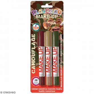 Sticks de maquillage PlayColor - Assortiment Camouflage - 3 pcs