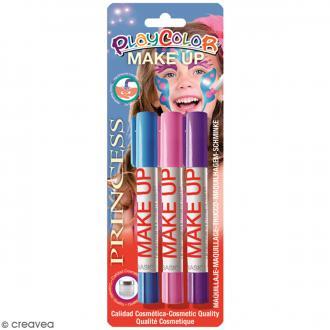 Sticks de maquillage PlayColor - Assortiment Princesse - 3 pcs