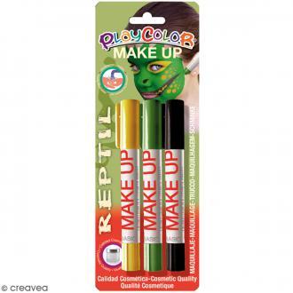 Sticks de maquillage PlayColor - Assortiment Reptile - 3 pcs