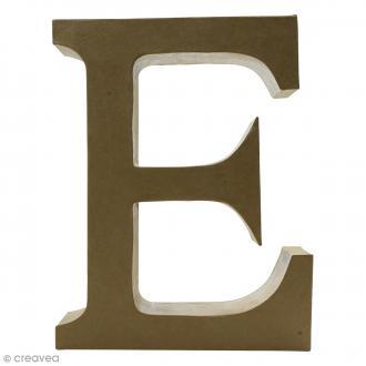 Lettre fantaisie E majuscule - 23 x 30 cm