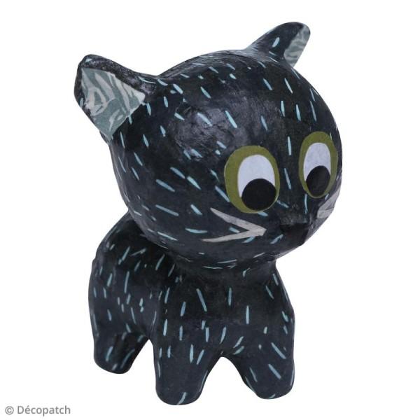 Mini Chat debout à décorer - 5 x 7 x 7 cm - Photo n°2