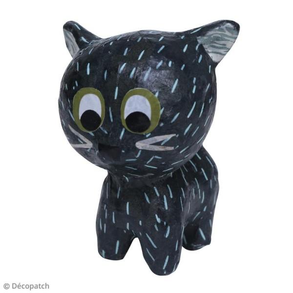 Mini Chat debout à décorer - 5 x 7 x 7 cm - Photo n°3