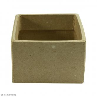 Casier carré à décorer - 7,5 x 7,5 x 5 cm