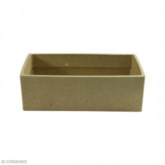 Petit casier rectangulaire à décorer - 15 x 7,5 x 5 cm