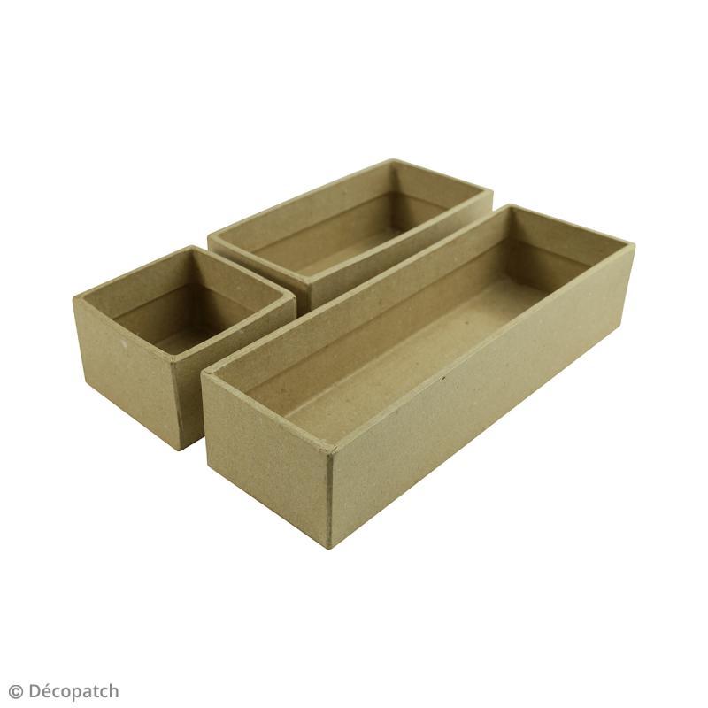 Casier rectangle allongé à décorer - 22,5 x 7,5 x 5 cm - Photo n°3