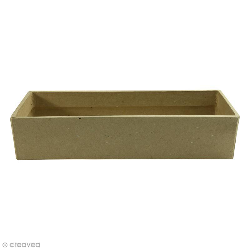 Casier rectangle allongé à décorer - 22,5 x 7,5 x 5 cm - Photo n°1