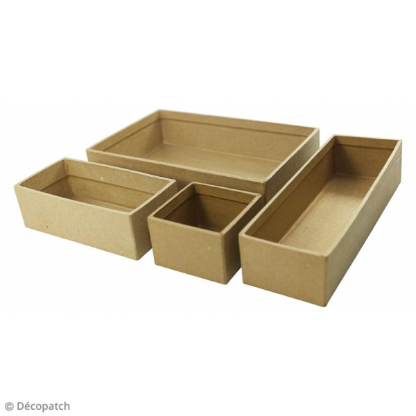 Casier rectangle allongé à décorer - 22,5 x 7,5 x 5 cm - Photo n°2