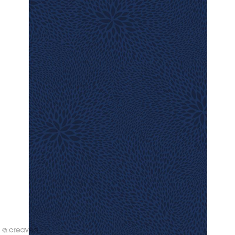 Décopatch Bleu 723 - 1 feuille - Photo n°1
