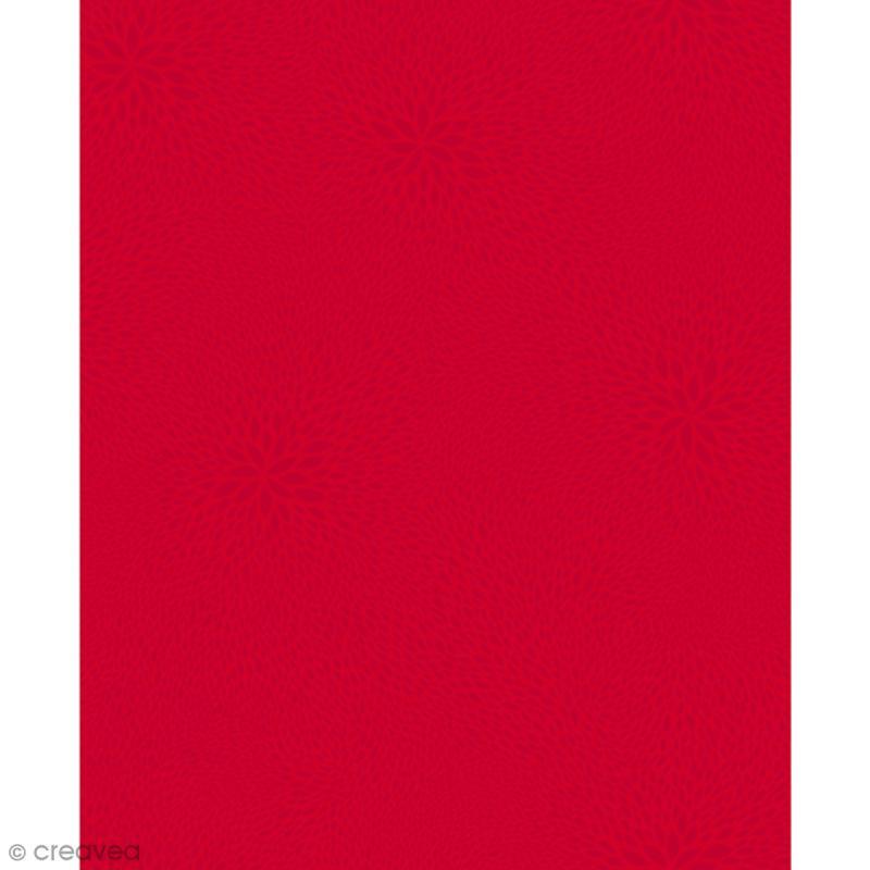 Décopatch Rouge 724 - 1 feuille - Photo n°1