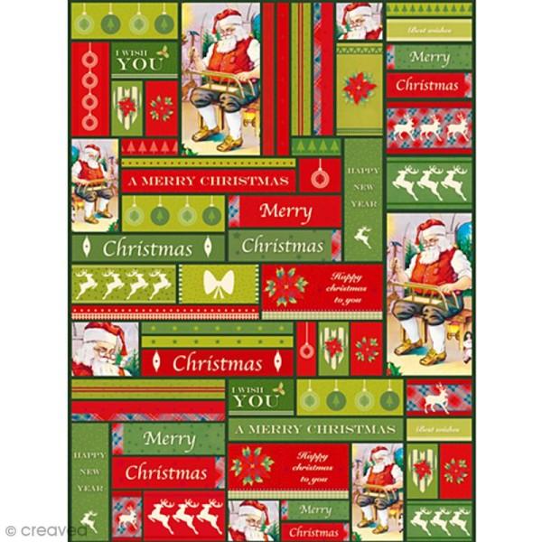Décopatch Noël Classique 725 - 1 feuille - Photo n°1