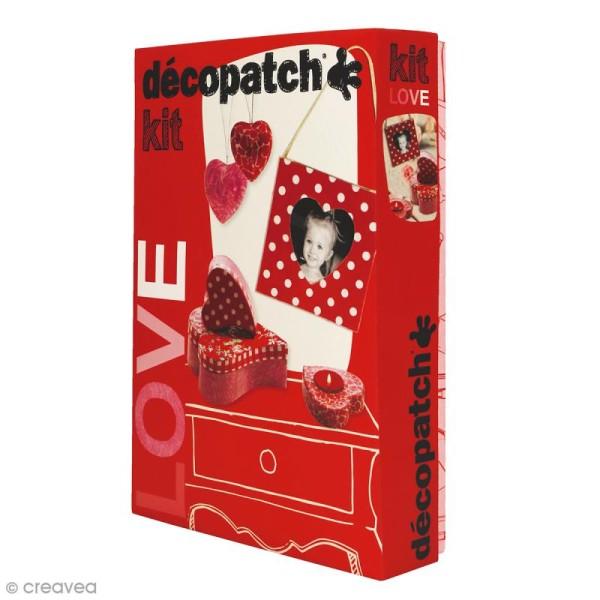 Kit Décopatch Love - Papiers et supports à personnaliser - Photo n°1