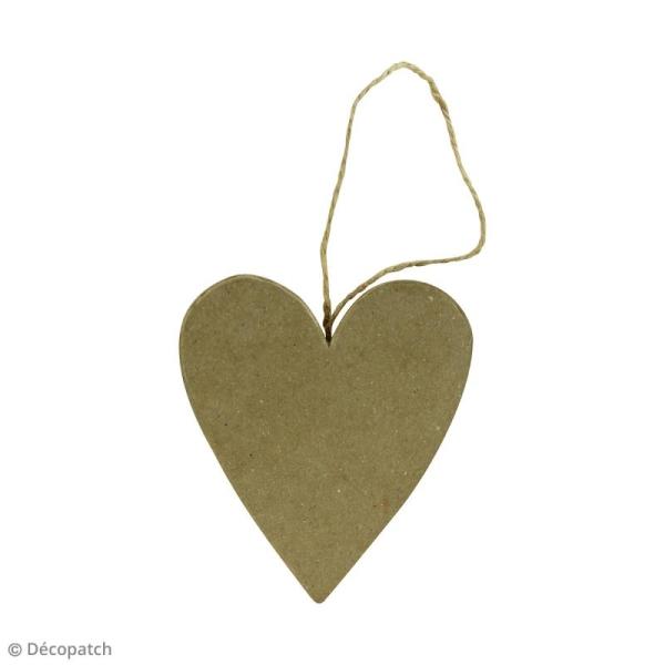 Coeur plat à suspendre - 7 x 1,5 x 8 cm - Photo n°2