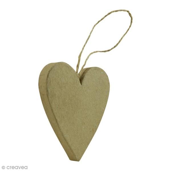 Coeur plat à suspendre - 7 x 1,5 x 8 cm - Photo n°1