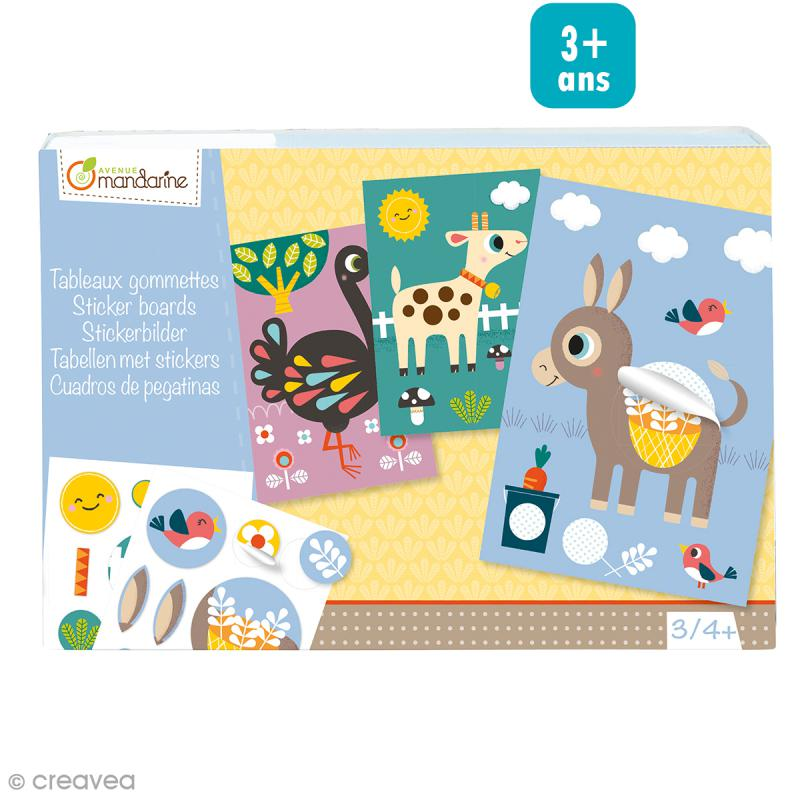 kit cr atif tableaux en gommettes 5 tableaux personnaliser kit gommettes creavea. Black Bedroom Furniture Sets. Home Design Ideas