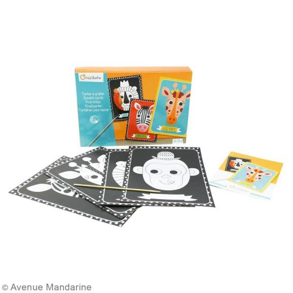 Kit créatif Cartes à gratter - 4 cartes à personnaliser - Photo n°2