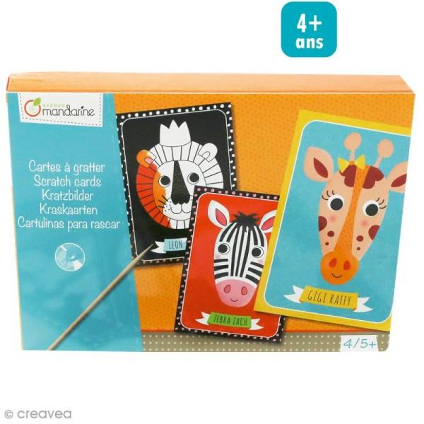 Kit créatif Cartes à gratter - 4 cartes à personnaliser - Photo n°1