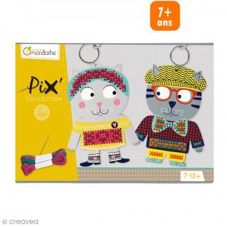 Boîte créative Pix Collection - 2 porte-clés à broder