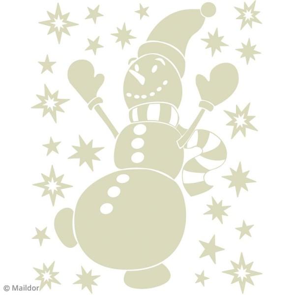 Stickers Fenêtre Stickino - Bonhomme de neige - 1 planche 30 x 38 cm - Photo n°2