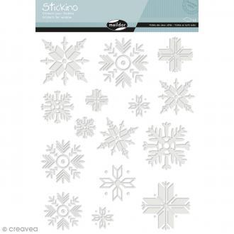 Stickers Fenêtre Stickino - Flocons - 1 planche 30 x 38 cm