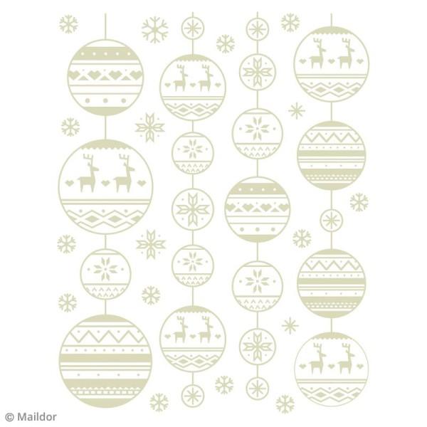 Stickers Fenêtre Stickino - Guirlandes de Noël - 1 planche 30 x 38 cm - Photo n°2