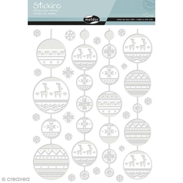 Stickers Fenêtre Stickino - Guirlandes de Noël - 1 planche 30 x 38 cm - Photo n°1