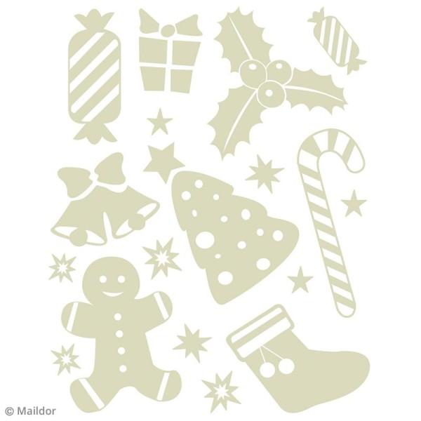 Stickers Fenêtre Stickino - Noël enfantin - 1 planche 30 x 38 cm - Photo n°2