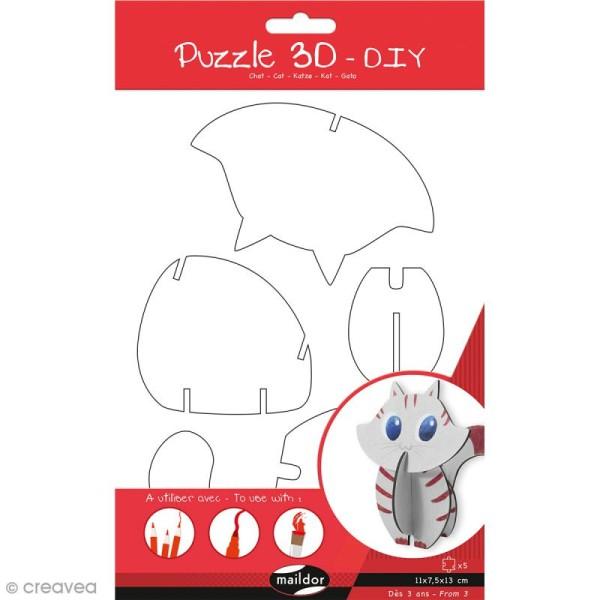 Puzzle 3D Chat - 5 pièces - Photo n°2