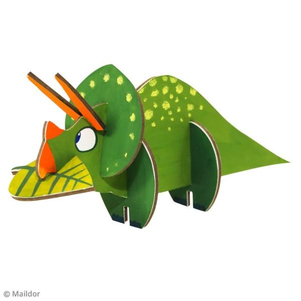 Puzzle 3D Dinosaure Tricératops - 6 pièces - Photo n°3