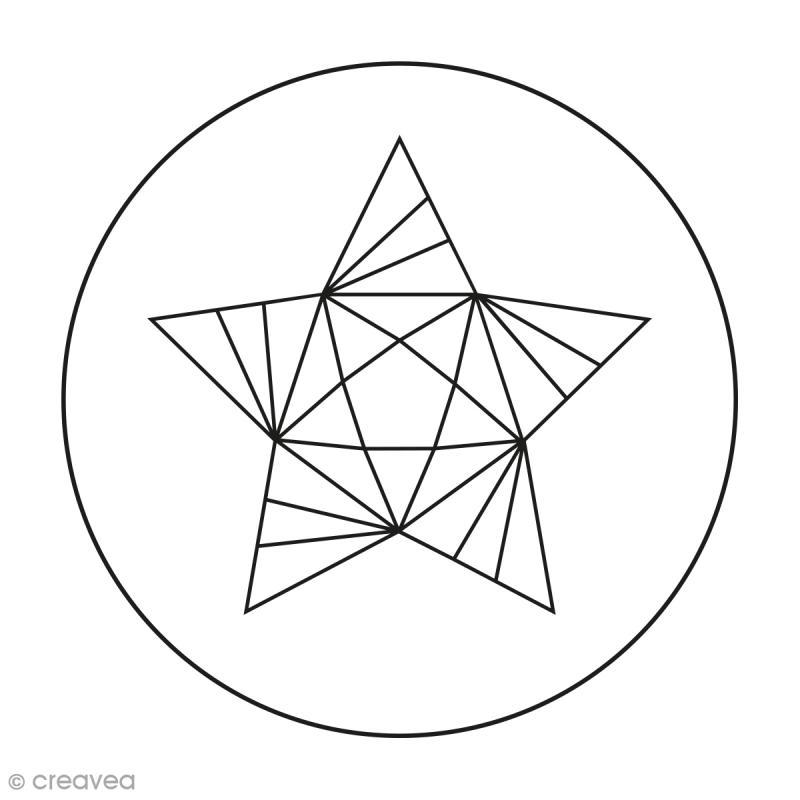 Kit broderie Creavea - Origami - 1 cercle et 3 modèles au choix - Photo n°4