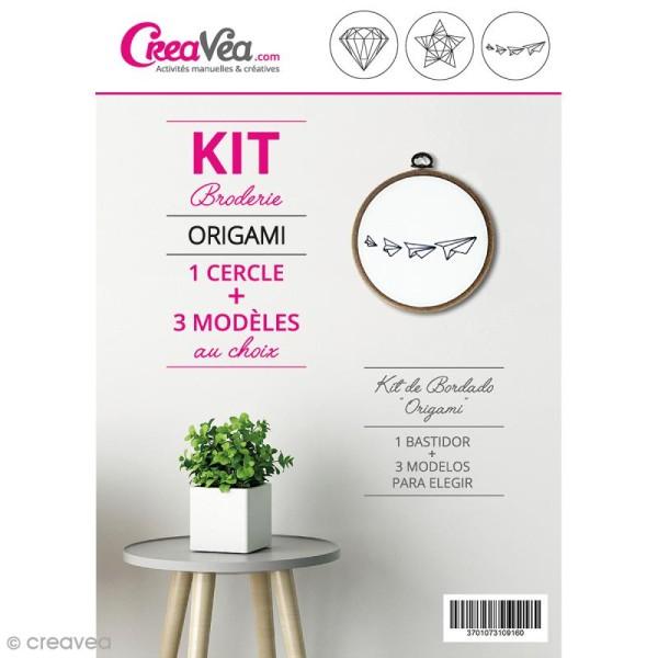 Kit broderie Creavea - Origami - 1 cercle et 3 modèles au choix - Photo n°1