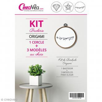 Kit broderie Creavea - Origami - 1 cercle et 3 modèles au choix