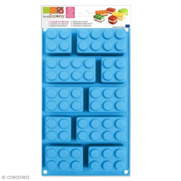 Moule Briques en silicone - Plaque de 10 formes - Photo n°1