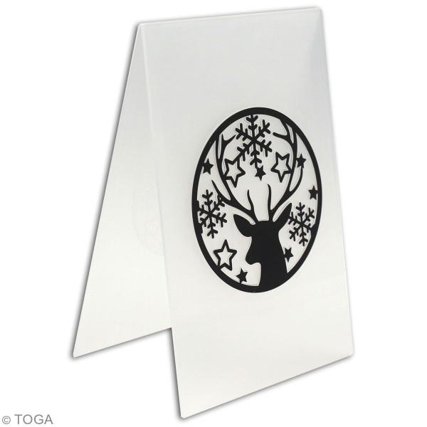 Plaque d'embossage Cut It All Toga - Renne et Flocons de neige - 10 x 15 cm - 1 pce - Photo n°3