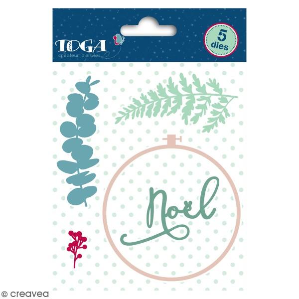 Dies Toga Cut It All - Motifs végétaux Noël -  1 à 8 cm - 5 pcs - Photo n°1