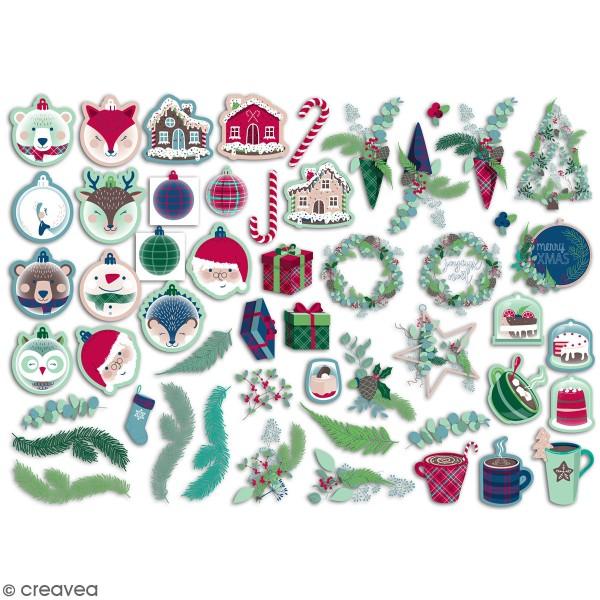 Assortiment de Die cuts papier Toga - Scottish Christmas - 3 à 6 cm - 50 pcs - Photo n°1