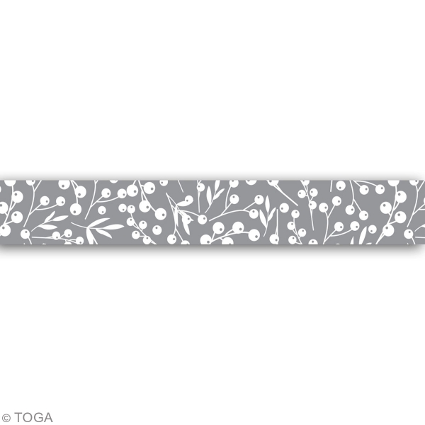 Masking Tape - Baies blanches papier argenté - 10 m - 1 pce - Photo n°3