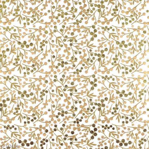 Papier l'Or de Bombay - Noël - 30,5 x 30,5 cm - 10 feuilles - Photo n°4