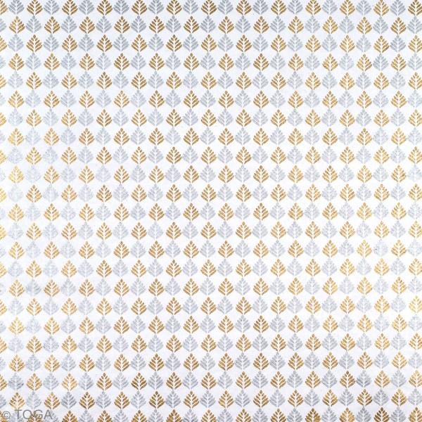 Papier l'Or de Bombay - Noël - 30,5 x 30,5 cm - 10 feuilles - Photo n°6