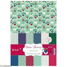 Papier scrapbooking Toga Color Factory - Format A4 - Scottish Christmas - 36 feuilles