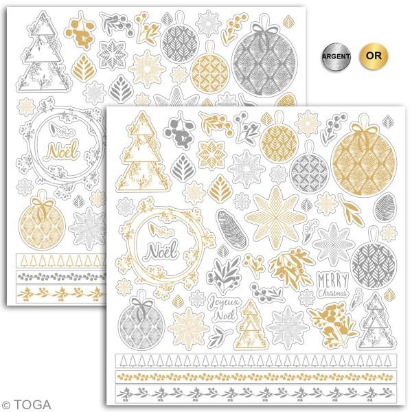 Stickers détails foil Toga l'Or de Bombay - Dorés et argentés - 1 à 4 cm - 108 pcs - Photo n°2