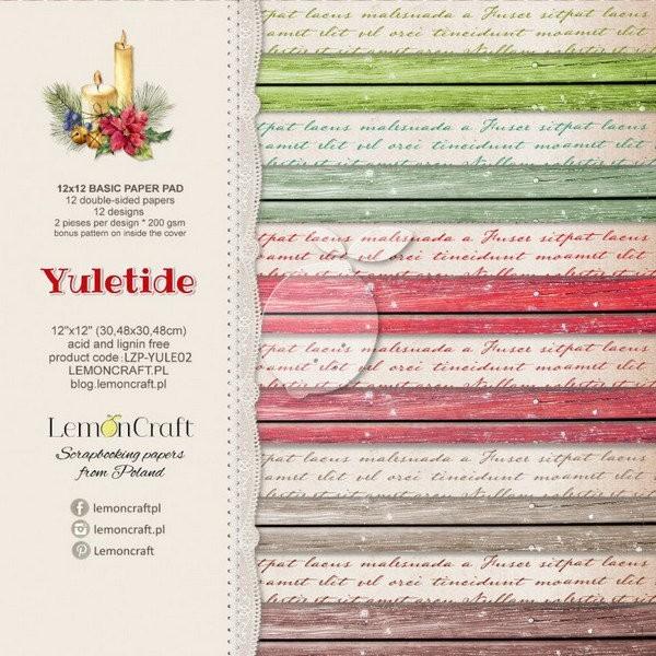12 papiers scrapbooking 30.5 x 30.5 cm LemonCraft YULETIDE - Photo n°1