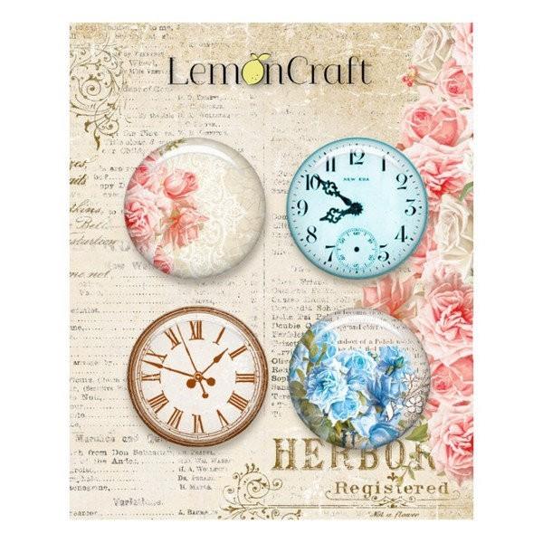 4 badges métal décoration scrapbooking 2,5 cm LemonCraft SENSE AND SENSIBILITY - Photo n°1