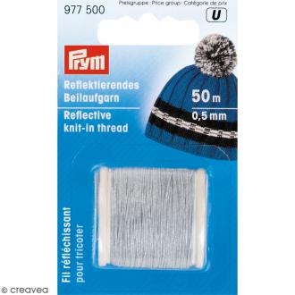 Bobine de fil réfléchissant pour tricot - 0,5 mm - 50 m