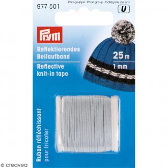 Bobine de fil réfléchissant pour tricot - 1 mm - 25 m