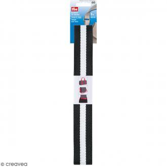 Sangles pour sac - Noir et blanc - 40 mm - 3 m